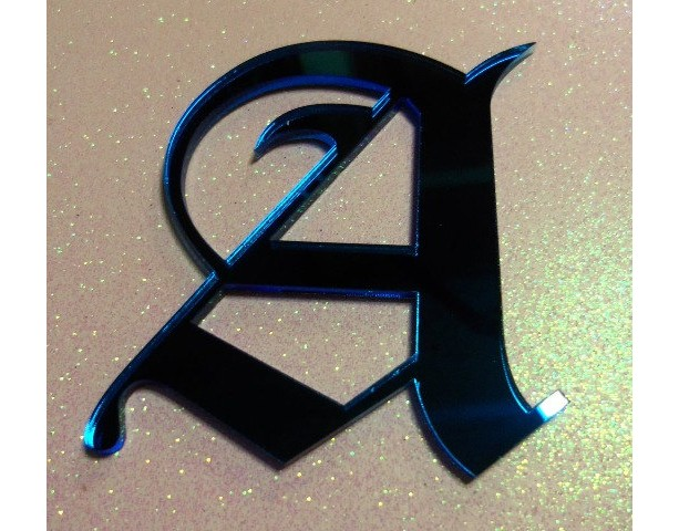 old english letters,laser cut letters,Old London font,initial pendants,initial letters,laser cut acrylic