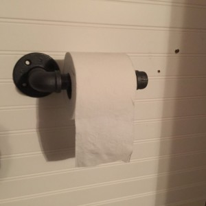 "Industrial Black Pipe Toilet Paper Holder, Urban, Loft, Steampunk Style, ""DIY"" Easily assembles in minutes"