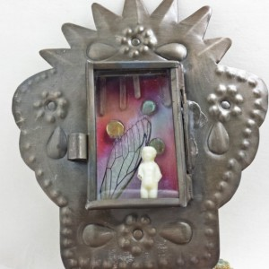 Mini Altar Fairy Wing Crystal Terrarium Nicho Box