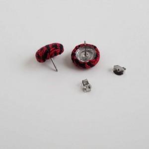 Wrap Scrap Jewelry - Earrings - Ankalia - Samba Fire - Wrap Scrap - Babywearing - Stainless Steel - Red and Black