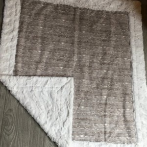 Woodgrain Minky Baby Blanket Toddler Gray Woodland
