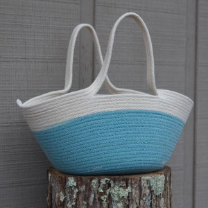 Project Bag, coiled rope basket with handles