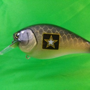 Army, Navy, Air Force and the Marines U.S. Service Lures. Active Duty and Veterans alike will want one of these! Great military gift.