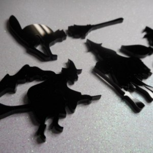 witch charms,laser cut,black cats,bat charms,halloween,