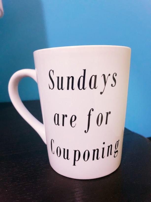 Couponing coffee mug!