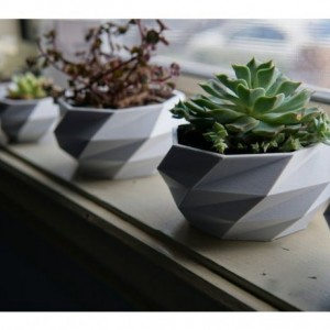 Modern Planter - Safe for Kids and Animals. White, black or gray.