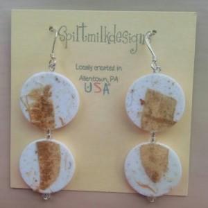 Paper Earrings - Sterling Silver findings - Dangle Earrings - Handmade