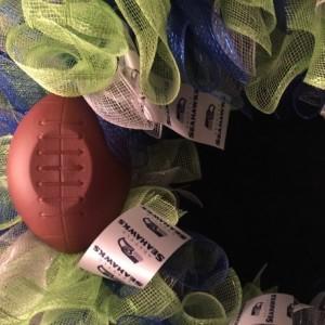 Seattle Seahawks wreath, Seattle Seahawks, Seattle Seahawks decor, seahawks, NFL, football, sports decor, decorative wreath, sports team decorations