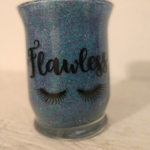Blue flawless Makeup brush holder