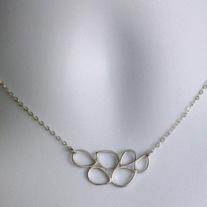 Silver Geometric Circle Necklace