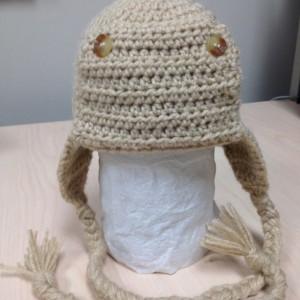 Crochet Aviator/Pilot hat