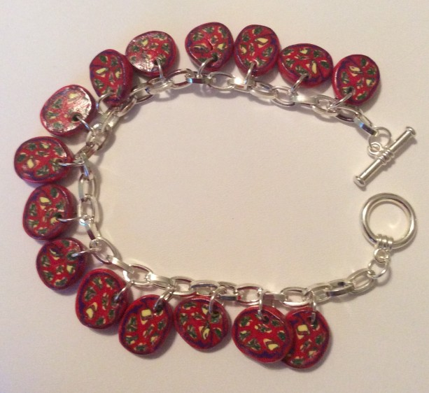 Fun Handcrafted Polymer Clay Bracelet