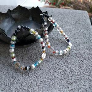 Frosted Rainbow Bracelet, Beaded Bracelets with Inspirational Words, Motivational Bracelet, Uplifting Bracelet by Cumulus Luci