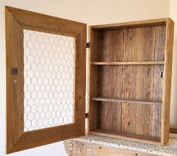 Chicken Wire Kitchen Cabinet Doors: Country Cabinet, Rustic Spice Cabinet