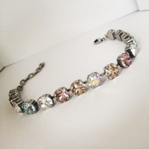 Genuine swarovski element bracelet, crystal jewelry, tennis bracelet, color of the year accessories, bridal jewelry,