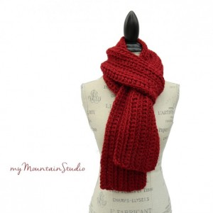 Charisma Red Handmade Winter Scarf