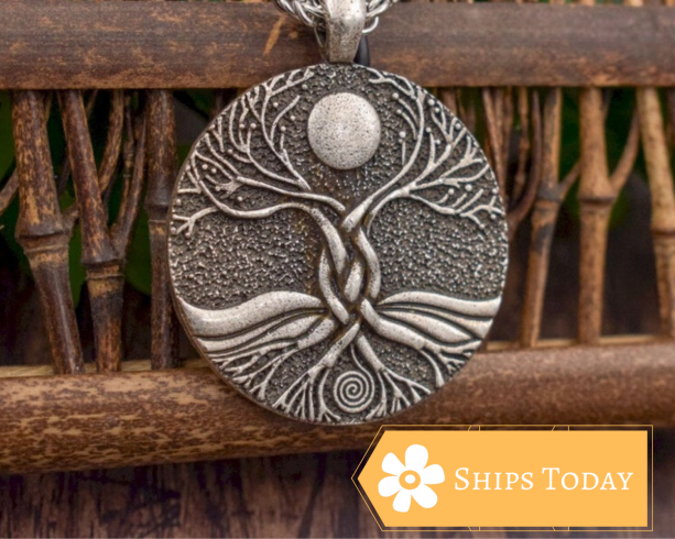 Iron Tree of Life Necklace - Tree of Life Pendant, Man Necklace, Women Necklace