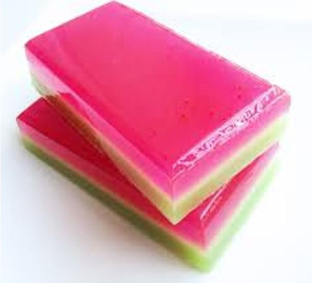 2 Watermelon Soaps, Free Shipping Domestic Only, Glycerin Soap