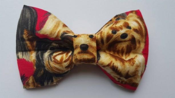 Yorkie pet bow tie