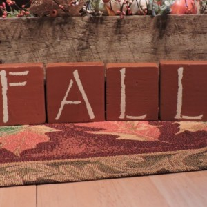 FALL Cinnamon Wood Display Blocks