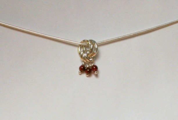 Garnet and Sterling Silver Add A Charm - January Birthstone - Perfect for Valentines Day