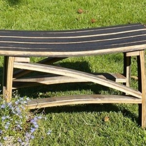 Kentucky Bourbon Barrel Stave Bench