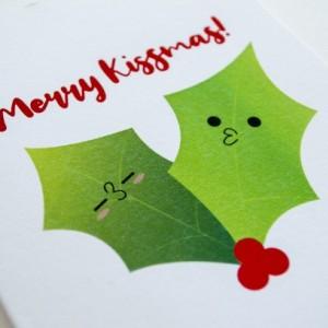 Merry Kissmas Greeting Card