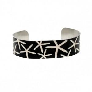 Photo cuff bracelet, aluminum, Stunning Starfish, fine art for wrist, HueDew