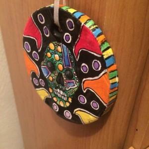 Handmade Sugar Skull Ornament
