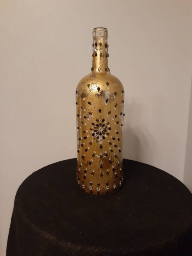 Wine Bottle/Wine/Home Decor/ Upcycled/Distressed
