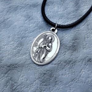 Personalized Saint James Necklace. Patron Saint of Pilgrims, Dressmakers, Soldiers, Rheumatism, and Arthritis