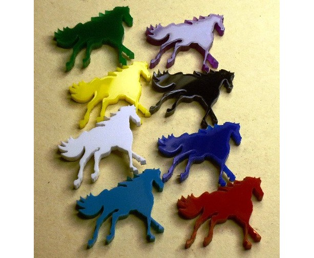 horse charms, laser cut charms,holographic charms,