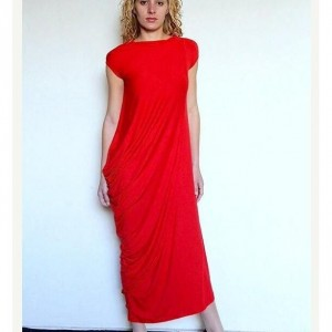 Maxi Dress Red Dress Asymmetrical Dress
