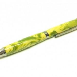Handcrafted Acrylic Olive Green/Khaki Slimline Pro Click pen