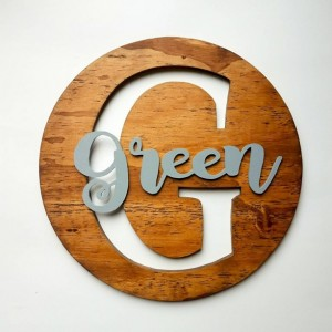 Personalized Name and Letter Wood Sign