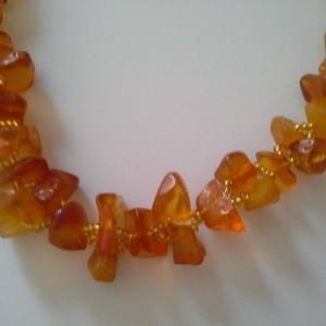 Amber Necklace - Semi-Precious Gemstone