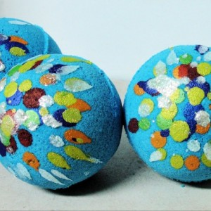 Jumbo Size Bath Bomb with Dead Sea Salts, Bath Fizzy Set of Three