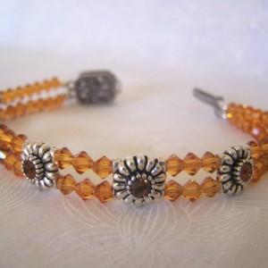 Bracelet Swarovski Crystal Sliders November Birthstone