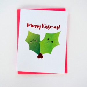 Merry Kissmas Greeting Card