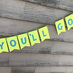 Graduation Banner/Oh The Places You'll Go Banner/Dr. Seuss Banner/Classroom Decoration/Kindergarten Graduation/High School Graduation