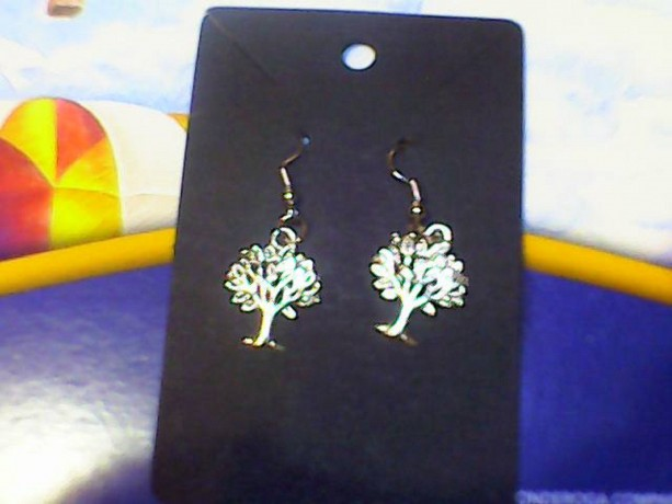 Tree of Life Homemade Silver earring