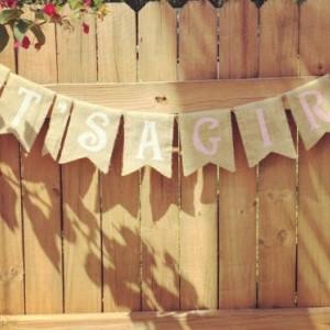 Burlap 'It's a Girl!' Banner