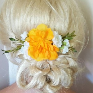 Boho Bridal Fascinator, Rustic Clip, Wedding Hair Comb, Wedding Clip, Wedding Hair Clip, Bridal Hair Comb, floral hair clip,  yellow
