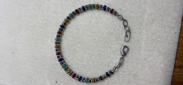 Handmade crystal beaded bracelet
