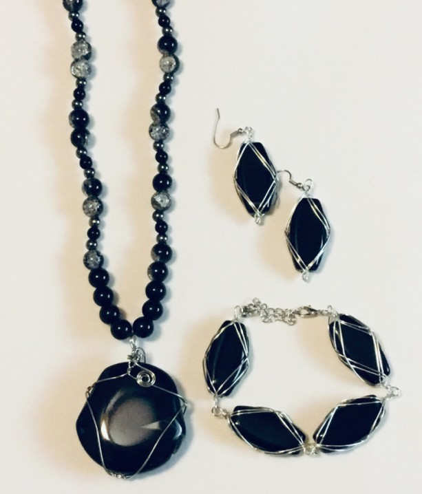 Wire Wrapped Agate Set