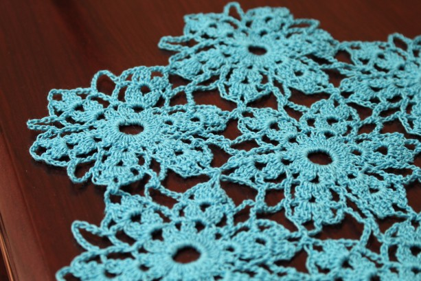 Treasured Bouquet Crocheted Doily