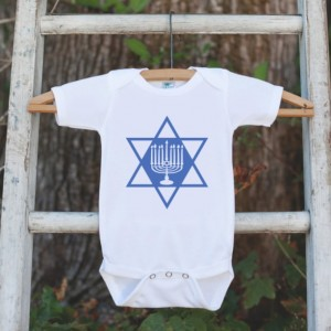 Menorah Hanukkah Outfit - Kids Hanukkah Onepiece or Shirt - Holiday Outfit for Newborn, Baby, Toddler, Youth - Hanukkah Gift Idea - Dreidel