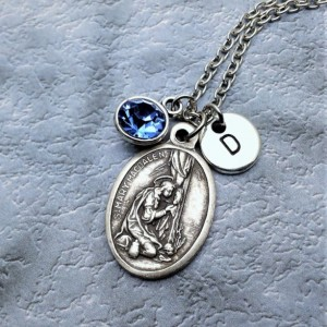 Personalized Saint Mary Magdalene Necklace. Patron Saint of Women and Converts