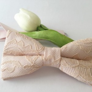 Blush Champagne Men's Bow Tie - Light Pink Champagne Bow Tie - Blush Lace Bow Tie - Blush Bow Tie - Light Pink Bow Tie - Pink Bow Tie