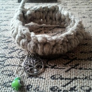 Thick Tree of Life Macrame Hemp Bracelet
